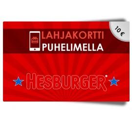 Hesburger 10€ lahjakortti