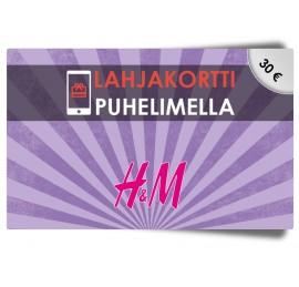 H&M 30€ lahjakortti