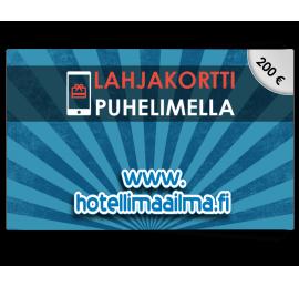 Hotellimaailma.fi 200€ lahjakortti